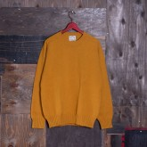 CREW-NECK KNIT SWEATER (HEAVY WEIGHT SHETLAND/MASTERED)