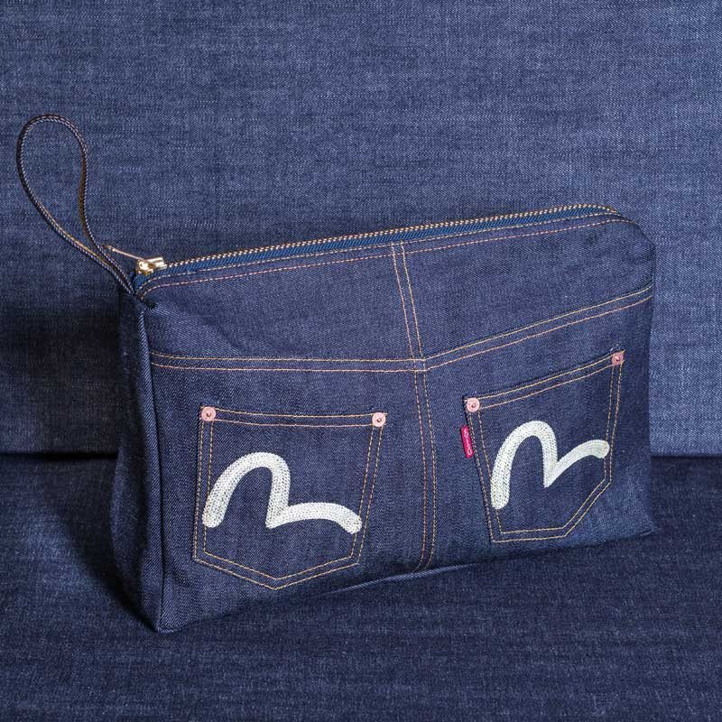 《SECONDO》 JEAN-CLUTCH-BAG (DENIM)