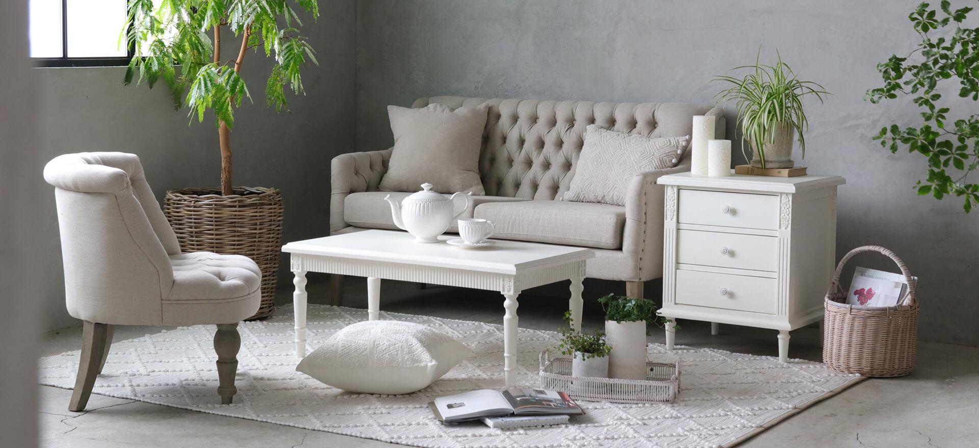 Caronのシンプルでちょっぴり可愛らしさのある陶器